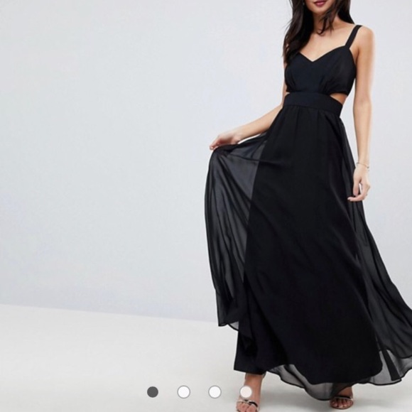 f8c48aa112 ASOS Dresses | Black Maxi Evening Gown With Cutouts | Poshmark